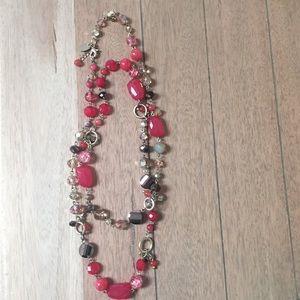 Fun multicolored stone & gold necklace